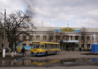 ЛиАЗ-677М №АН 7621 ВС, перевезення шахтарів. Донецька область, Олександрівський район, шахта Піонер