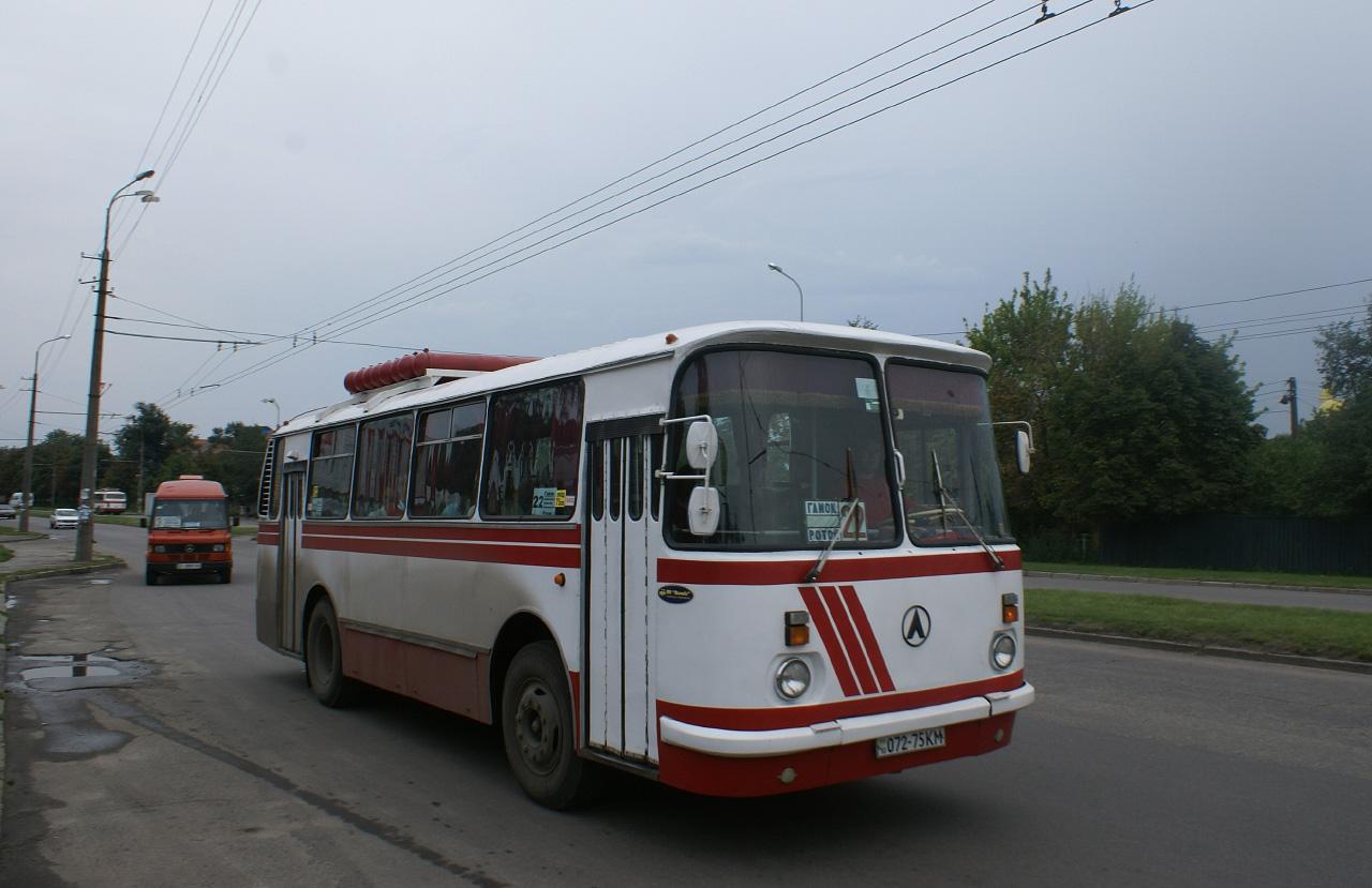 ЛАЗ-695Н №072-75 КМ, маршрут №22. Київська область, Біла Церква