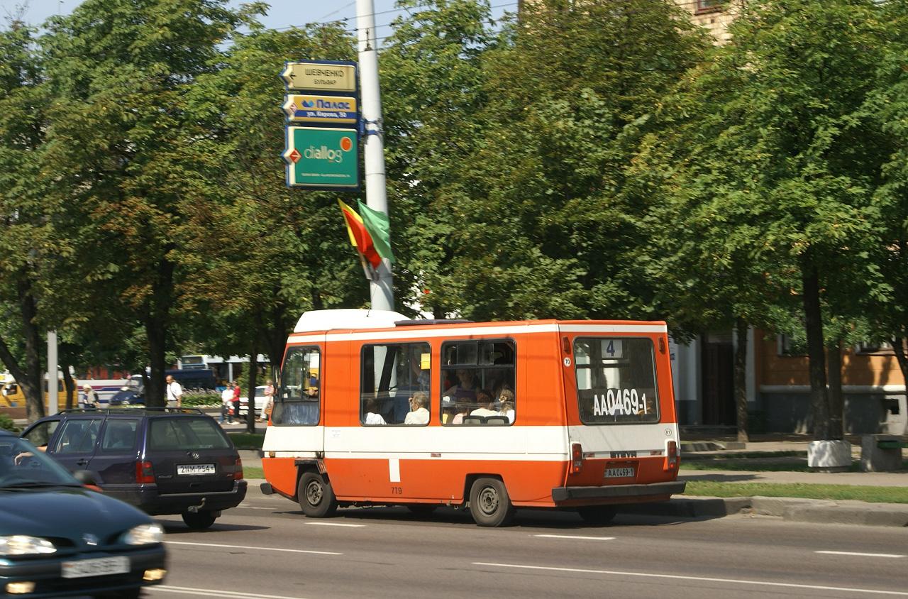 Steyr Citybus SC6F №АА 0469-1, маршрут №4. Брест
