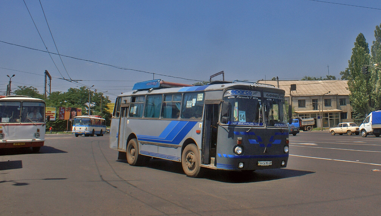 ЛАЗ-695Н №АН 5618 АХ, маршрут №14. Донецька область, Горлівка