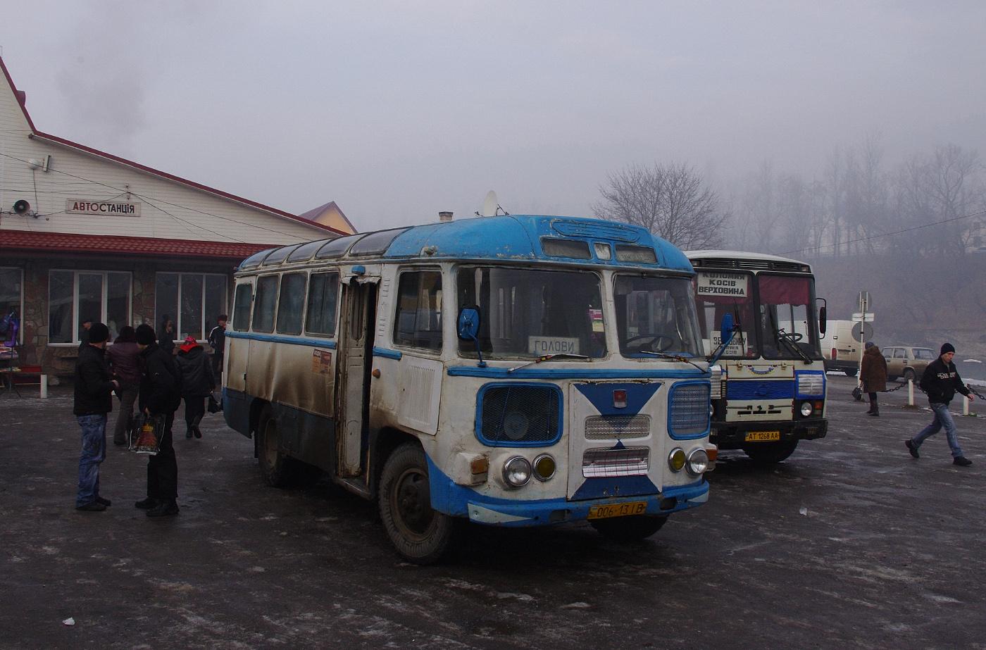 ПАЗ-672М №006-13 ІВ, маршрут Верховина - Голови. Івано-Франківська область, Верховина