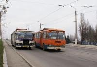 ЛиАЗ-677М №011-19 ЕА на маршруті №2, №011-39 ЕВ на маршруті №22. Донецька область, Краматорськ, вул. Магістральна