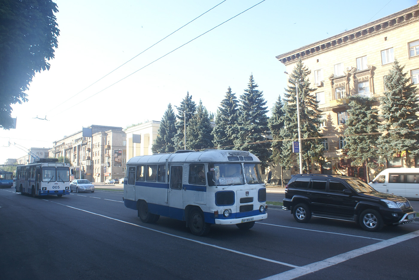 ПАЗ-672М №АР 7854 АІ на маршруті 82. Запоріжжя