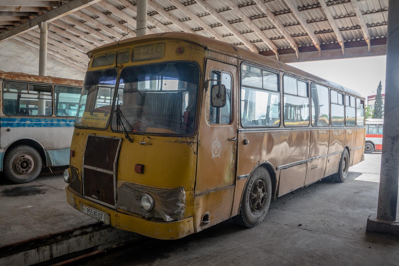 ЛиАЗ-677М #955 XE 07. Таджикістан, Турсунзаде