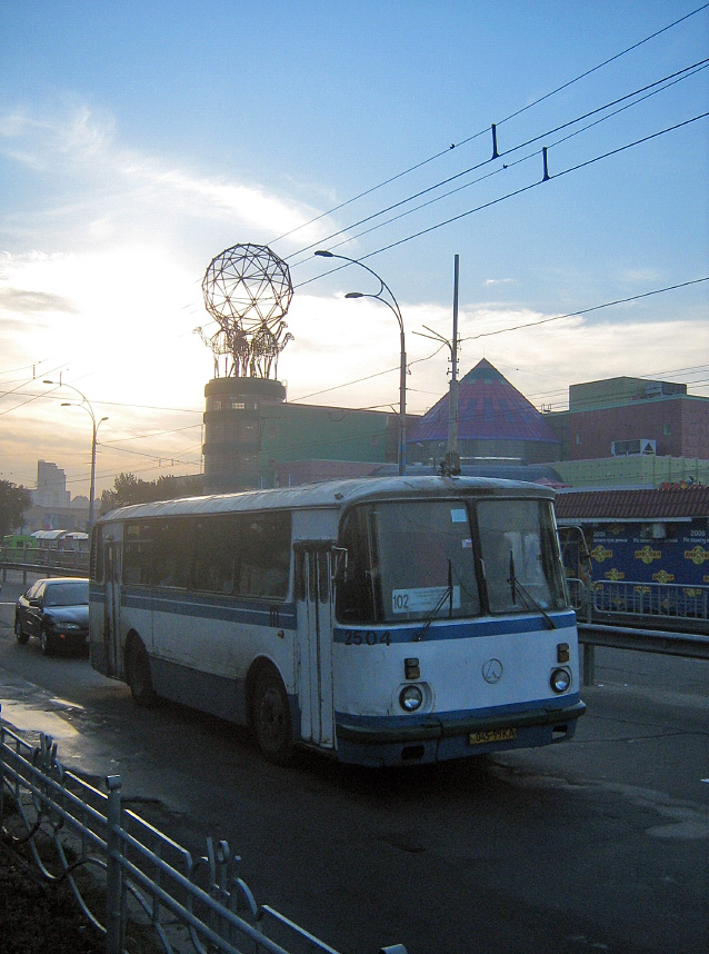 ЛАЗ-695Н #045-99 КА, маршрут №102. Київ
